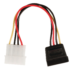 VLCP73500V015 Interne Stroomkabel Molex Male - SATA 15-Pins Female 0.15 m