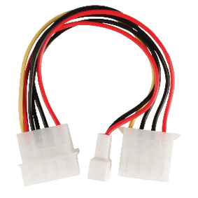 VLCP74030V015 Interne Stroomkabel Molex Male - Molex Female + 3-Pins Fan Power 0.15 m