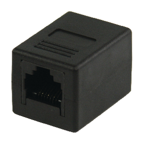 VLCP89000B CAT5 Netwerk Adapter RJ45 (8/8) Female - RJ45 (8/8) Female Zwart