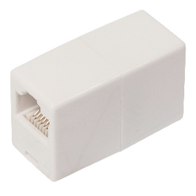 VLCP89005W CAT5 Netwerk Adapter RJ45 (8/8) Female - RJ45 (8/8) Female Wit