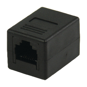 VLCP89010B CAT6 Netwerk Adapter RJ45 (8/8) Female - RJ45 (8/8) Female Zwart