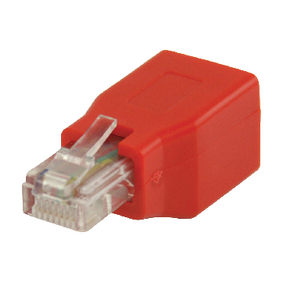 VLCP89250R CAT5 Netwerk Adapter RJ45 (8/8) Male - RJ45 (8/8) Female Rood