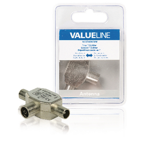 VLSB40950M Coax-Adapter Coax Female (IEC) - 2x Coaxconnector Male (IEC) Zilver