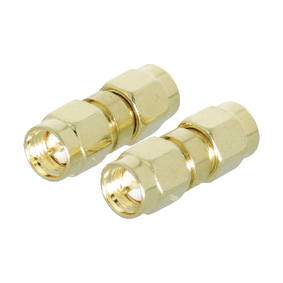 VLSP02941A SMA-Adapter SMA Male - SMA Male Goud