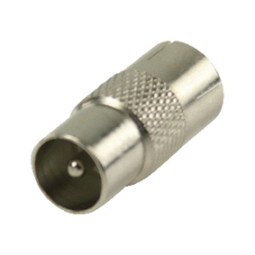 VLSP40942M Coax-Adapter Coax Male (IEC) - Coax Female (IEC) Zilver
