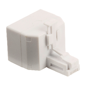 VLTP90995W Telecom-Adapter RJ11 (4/6) Female - 2x RJ11 (4/6) Female Wit