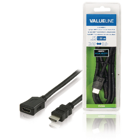 VLVB34090B10 High Speed HDMI kabel met Ethernet HDMI-Connector - HDMI Female 1.00 m Zwart