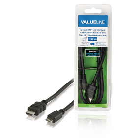 VLVB34500B10 High Speed HDMI kabel met Ethernet HDMI-Connector - HDMI Mini-Connector Male 1.00 m Zwart