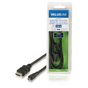 VLVB34700B10 High Speed HDMI kabel met Ethernet HDMI-Connector - HDMI Micro-Connector Male 1.00 m Zwart