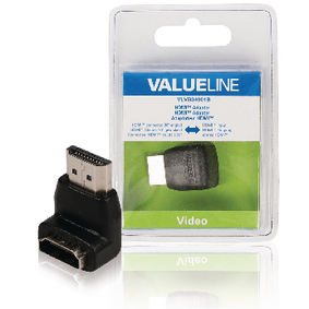 VLVB34901B High Speed HDMI met Ethernet Adapter 90° Haaks HDMI-Connector - HDMI Female Zwart