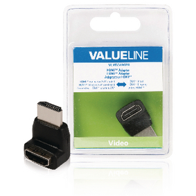 VLVB34902B High Speed HDMI met Ethernet Adapter 270° Gehoekt HDMI-Connector - HDMI Female Zwart