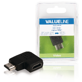 VLVB34904B High Speed HDMI met Ethernet Adapter Rechts Gehoekt HDMI-Connector - HDMI Female Zwart