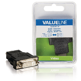 VLVB34910B High Speed HDMI met Ethernet Adapter HDMI-Connector - DVI-D 24+1-Pins Female Zwart