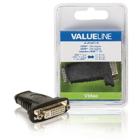 VLVB34911B High Speed HDMI met Ethernet Adapter HDMI Female - DVI-D 24+1-Pins Female Zwart