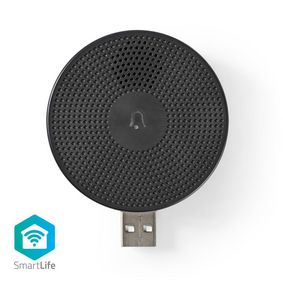 WIFICDPC10BK Smartlife gong | wi-fi | accessoire voor: wificdp10gy | usb gevoed | 4 geluiden | 5 v dc | instelbaa