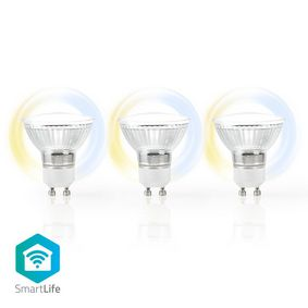 WIFILW30CRGU10 Wi-Fi Smart LED-Lamp | Warm tot Koel Wit | GU10 | 3-Pack