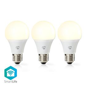 WIFILW31WTE27 Wi-Fi Smart LED-Lamp | Warm Wit | E27 | 3-Pack