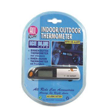02959 Binnen/buiten autothermometer zwart/grijs