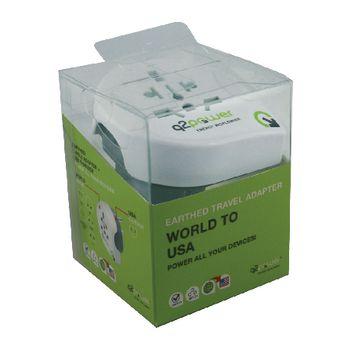 1.100140 Reisadapter wereld-naar-usa usb geaard Verpakking foto