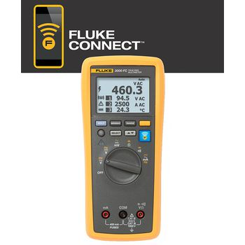 3000 FC Digitale multimeter trms ac 6000 cijfers 1000 vac 1000 vdc 0.4 adc
