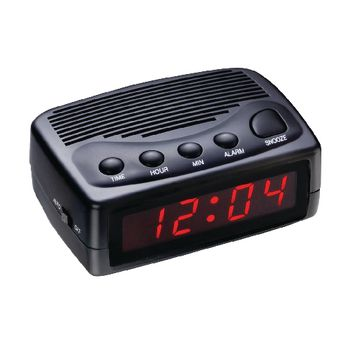 112574 Led wekker digitaal zwart