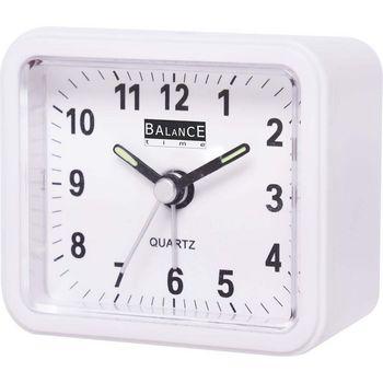 132941 Balance   alarm clock   analogue   white