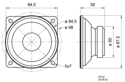 VS-4630 Broadband speaker 4 ohm 15 w