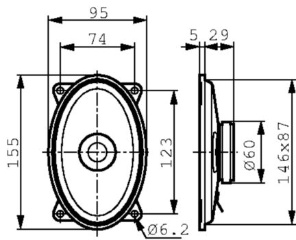VS-2054 Broadband speaker 4 ohm 30 w