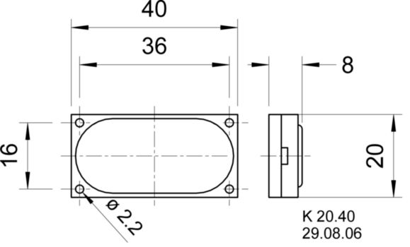VS-2941 Miniature loudspeaker 8 ohm 2 w Product foto