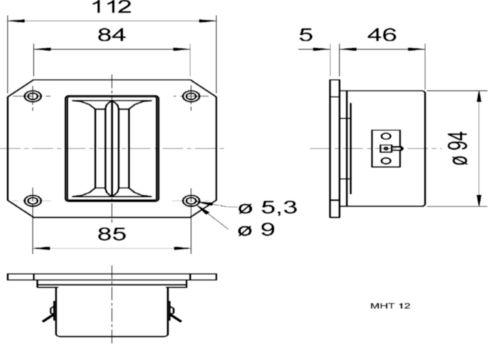 VS-MHT12 High-end magnetostatische tweeter 8 ohm Product foto
