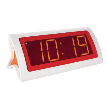 202594 Led wekker digitaal wit/rood