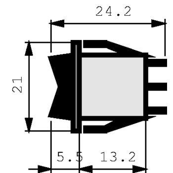 A11131121000 Wipschakelaarp 10 a 250 vac Product foto
