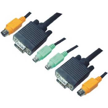 2L-1903P Kvm kabel vga male / 2x ps/2-connector / 2x 3.5 mm male - vga male / 2x ps/2-connector / 2x 3.5 mm m