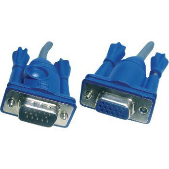 2L-2406 Kvm kabel vga female 15-pins - vga male 6.0 m