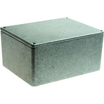 RND 455-00042 Metalen behuizing, grijs, 95 x 121 x 61 mm, die cast aluminium, ip54