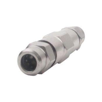 695020321 Coaxconnector male zilver