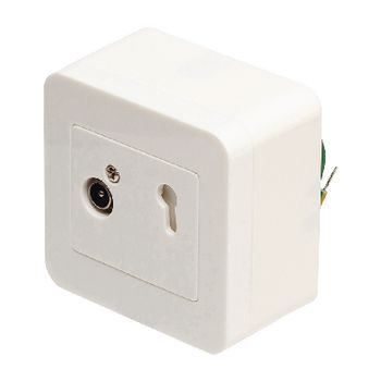 695020393 Antenne wandcontactdoos signaalovernamepunt 2.5 db wit