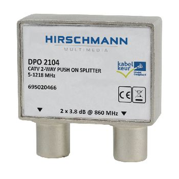 695020466 Catv-splitter 4.8 db / 5-1218 mhz - 2 uitgangen