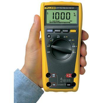 177 Digitale multimeter fluke 177 trms ac 6000 cijfers 1000 vac 1000 vdc 10 adc Product foto