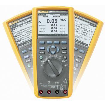 287/EUR Digitale multimeter fluke 287/eur trms ac+dc 50 000 cijfers 1000 vac 1000 vdc 10 adc Product foto