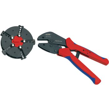 97 33 02 Crimping pliers with magazine changer plug connectors, cable lugs, wire end ferrules and butt connec