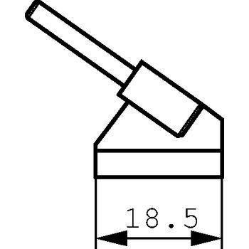 WTA-5 Tweezer soldering tip pair 18.5 mm pu=2 st