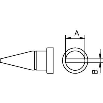 LT D Soldeerstift beitelvormig 4.6 mm