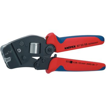 97 53 08 SB Crimping pliers for front insertion end-sleeves for wires 0.08...10 mm²