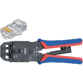 97 51 12 SB Crimp lever pliers for western plugs western connector rj10 (4-pin) 7.65 mm, rj11/12 (6-pin) 9.65 mm