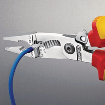 13 96 200 Electricians pliers with cable cutter vde;0.7...1.5 mm²;200 mm Product foto