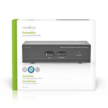 AAMP2402BK Voorversterker | input: 2x (2x rca) | output: 1x (2x rca) | aux / phono / platenspeler | handmatig | Verpakking foto