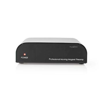 AAMP2411BK Voorversterker | input: 1x rca | output: 1x rca | phono / platenspeler | automatisch | zwart