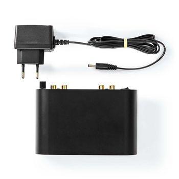 AAMP2411BK Voorversterker | input: 1x rca | output: 1x rca | phono / platenspeler | automatisch | zwart Inhoud verpakking foto