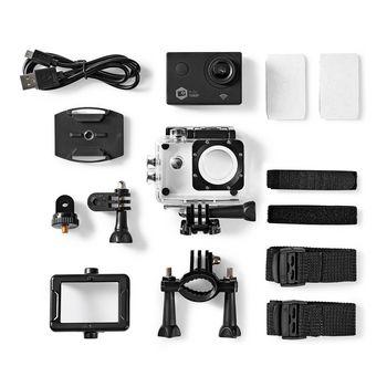 ACAM21BK Action cam   1080p@30fps   12 mpixel   waterbestendig tot: 30.0 m   90 min   wi-fi   app beschikbaar Inhoud verpakking foto